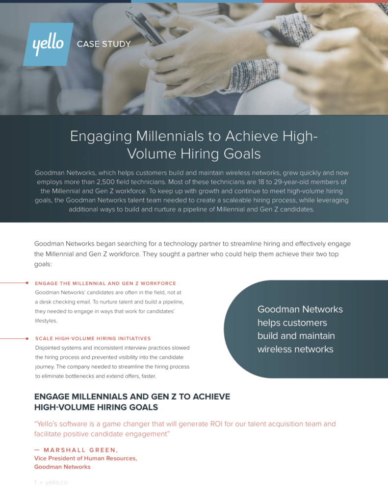 Engaging Millennials to Achieve High-Volume Hiring Goals